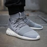 大脚福利!adidas Originals 阿迪达斯 Tubular Doom PrimeKnit 男士休闲运动鞋