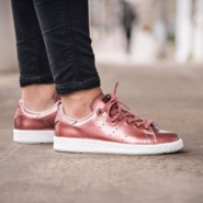 "adidas Originals 阿迪达斯 Stan Smith Boost ""Metallic"" 女款休闲运动鞋"