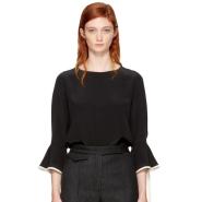 Chloe Black & Ivory Silk Blouse 女款黑色丝绸衬衫