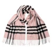 【立减$30】情人节礼物精选!Burberry 博柏利 经典格子羊绒围巾 粉色
