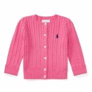限时高返!Ralph Lauren 拉夫·劳伦 0-2岁女宝宝甜美纯色毛衣开衫
