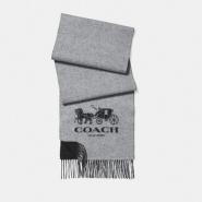 Coach Cashmere Bicolor Signature Scarf 灰色羊绒围巾