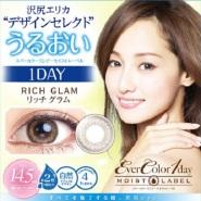 【满额免费直邮中国+会员限定立减1000日元】Ever Color 1day 浅棕色日抛美瞳 10枚装