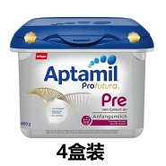 【中亚Prime会员】Aptamil 爱他美 白金版 婴儿配方奶粉 Pre段 800gx4盒装