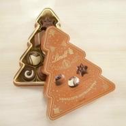 【立减10欧】Lindt & Sprüngli 瑞士莲 夹心巧克力圣诞树造型礼盒 100g
