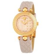 【情人节精选】Versace 范思哲 Vanitas 系列 VQM04 0015 裸色女士石英手表