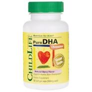 【断货王】ChildLife 童年时光 精纯DHA软胶囊 莓果味 90粒