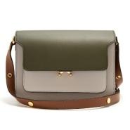 Marni Trunk medium leather shoulder bag 拼色包包