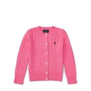 新低价!Ralph Lauren 拉夫·劳伦 2-6岁 女童甜美纯色毛衣开衫 粉色