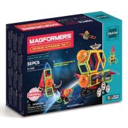 新低价!【中亚Prime会员】MAGFORMERS Space Episode 太空系列 益智磁力积木55件套