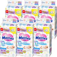 花王 Merries 妙而舒 腰贴式新生儿婴儿纸尿裤 38片*6包