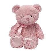 少女心爆棚!【中亚Prime会员】4件0税~Gund 婴儿毛绒玩具熊 粉色 25cm高