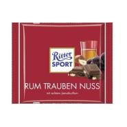 德国直邮,凑单好物!Ritter Sport 朗姆酒葡萄干果仁巧克力