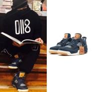 【周杰伦同款】2018首个必剁联名系列 Levi's X Air Jordan 4 男士篮球鞋