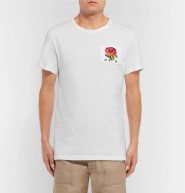 Kent & Curwen 修身刺绣棉质T恤