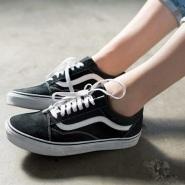【补货 黄金码全!】Vans 潮人必备 经典款黑色高帮帆布鞋