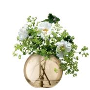 【中亚Prime会员】LSA International 玻璃插花花瓶 圆形半透明手工吹制 11cm