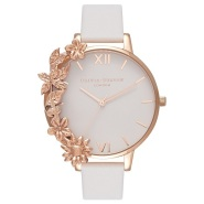 Oliva Burton 玫瑰金花朵女士时尚手表