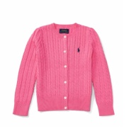 Ralph Lauren 拉夫·劳伦 2-6岁女宝宝甜美纯色毛衣开衫