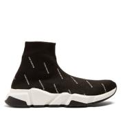 即将上架~BALENCIAGA Speed trainers 女款黑色logo袜鞋