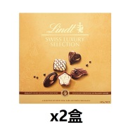 限时高返16%!【中亚Prime会员】送礼必备~Lindt 瑞士莲 奢华巧克力礼盒 145g*2盒装