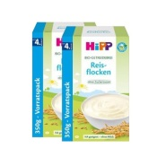 【立减8欧+免邮中国】Hipp 喜宝 有机纯大米 免敏米粉 4个月以上 350g*2盒