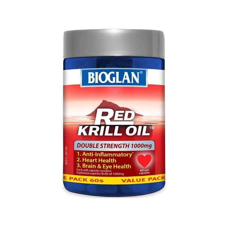 【55專享】Bioglan Red Krill Oil 紅磷蝦油 1000mg 60粒