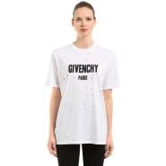 街拍热款18年新款!Givenchy 破洞 logo T恤