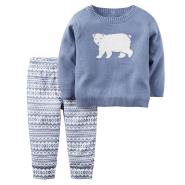 限时高返16%!【中亚Prime会员】Carter's 卡特 婴儿儿童长袖针织衫长裤两件套
