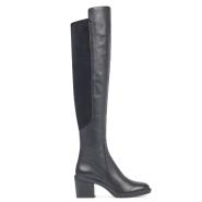 Nine West Nacissa Over-The-Knee Boots 黑色真皮过膝靴