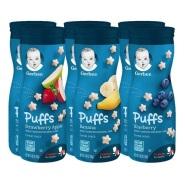 【中亚Prime会员】Gerber 嘉宝 婴儿零食辅食星星泡芙 水果味 42g*6罐