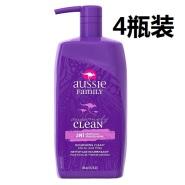 【中亚Prime会员】Aussie 袋鼠清洁洗发护发二合一 865ml*4