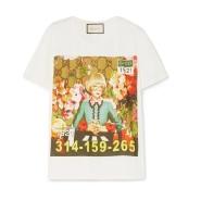 【18年新款】GUCCI 古驰听 Ignasi Monreal 讲插画故事 算命先生图案T恤