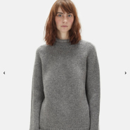 Acne Studios Sabela Wool Mock Neck Sweater 灰色羊毛毛衣