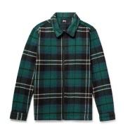 【额外8折】6叔、冠希哥等潮人最爱 Stussy 格子衬衫夹克