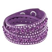 Swarovski 施华洛世奇 Slake 紫红色缠绕式手链