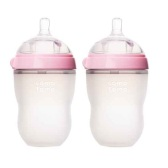 Comotomo 可么多么 嬰兒硅膠奶瓶 粉色 250ml*2