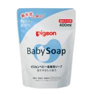 【中亚Prime会员】Pigeon 贝亲 婴儿全身泡沫皂沐浴露替换装 500ml 清爽泡沫型