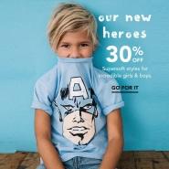 Gymboree 金宝贝:精选新款超级英雄系列T恤