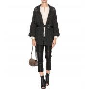 优雅高级女装 Brunello Cucinelli 羊绒海马毛混纺绑带开衫