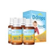【单瓶到手86元】Ddrops 婴儿维生素D3滴剂 400IU 90滴*4瓶