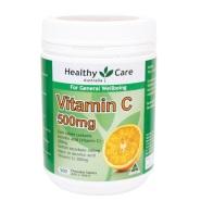 【立减5澳+免邮】Healthy Care 维生素C咀嚼片 500mg 500片
