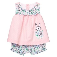 【5折】Gymboree 金宝贝 小兔叽粉色波点套装 0~24个月