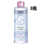 【中亚Prime会员】L'Oréal Paris 欧莱雅 三合一眼唇脸部温和卸妆液 400ml*3瓶