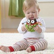 【中亚Prime会员】Skip Hop 宝宝手抓球牙胶手摇铃玩具 猫头鹰款