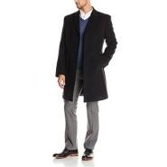 【美亚自营】Tommy Hilfiger 男款单排扣羊毛大衣