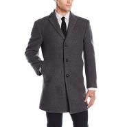 【美亚自营】Calvin Klein 男士单排扣修身款羊毛大衣