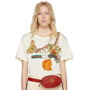 Gucci White Logo Print T-Shirt 女款白色T恤衫