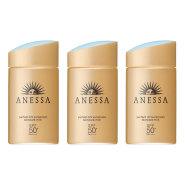 2018年新款!Shiseido 资生堂 Anessa 安耐晒金瓶防晒霜 60ml SPF50+ 3瓶装