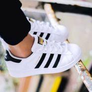 """【不用凑单额外8折】Adidas Originals 三叶草""""superstar"""" 大童款运动鞋 黑色金标"""